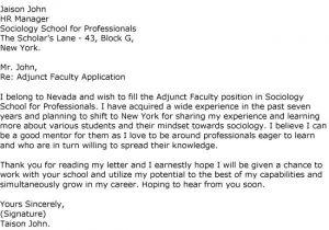 Cover Letter for assistant Professor Post Application for Professor Cover Letter