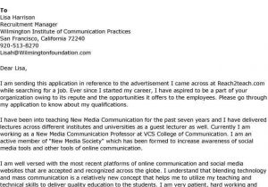 Cover Letter for assistant Professor Post Cover Letter for assistant Professor Position Best