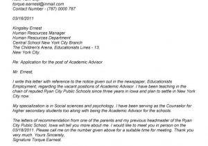 Cover Letter for assistant Professor Post Proper Academic Cover Letter Sample Letter format Writing