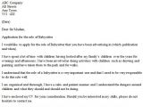 Cover Letter for Babysitter Position Babysitter Cover Letter Example Icover org Uk