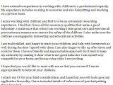 Cover Letter for Babysitter Position Babysitter Cover Letter Example Learnist org