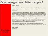 Cover Letter for Case Management Position Case Manager Cover Letter