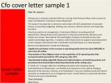 Cover Letter for Cfo Position Cfo Cover Letter