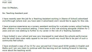 Cover Letter for Classroom assistant Teaching assistant Cover Letter Example Lettercv Com