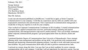 Cover Letter for Communications Internship Cover Letter for Pr Internship the Letter Sample