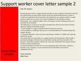 Cover Letter for Community Service Worker Support Worker Cover Letter