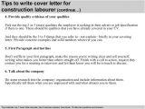 Cover Letter for Construction Labourer Construction Labourer Cover Letter