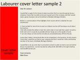 Cover Letter for Construction Labourer Labourer Cover Letter