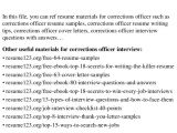 Cover Letter for Corrections Officer top 8 Corrections Officer Resume Samples