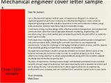 Cover Letter for Cv Mechanical Engineer Mechanical Engineer Cover Letter