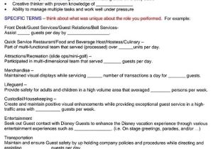 Cover Letter for Disney Internship Disney Resume Elly and Caroline 39 S Magical Moments