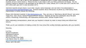 Cover Letter for Disney Internship Sample Cover Letter for Biotech Internship