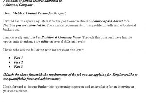 Cover Letter for Employment Opportunity Application Letter for Job Opportunity Writefiction581