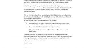 Cover Letter for English Class Cover Letter for English Class the Letter Sample