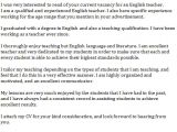 Cover Letter for English Class English Teacher Cover Letter Example Learnist org