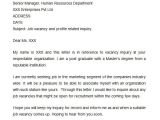 Cover Letter for Enquiring Possible Job Vacancies 8 Sample Inquiry Letters to Download Sample Templates