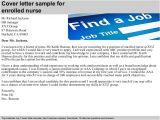 Cover Letter for Enrolled Nurse Enrolled Nurse Cover Letter