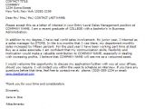 Cover Letter for Entry Level Sales Position Entry Level Cover Letter