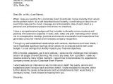 Cover Letter for event Coordinator Position event Coordinator Cover Letter