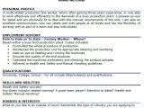 Cover Letter for Factory Work Factory Worker Cv Example Lettercv Com