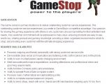 Cover Letter for Gamestop Game software Knowledge Gamestop Application Video Game