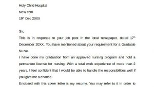 Cover Letter for Graduate Nurse Program 10 Nursing Cover Letter Template Samples Examples