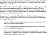 Cover Letter for Home Depot Statement On the Emeryville Police Department 39 S Killing Of