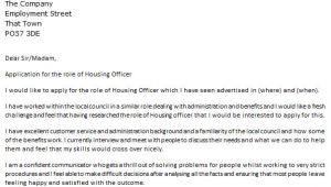 Cover Letter for Housing Officer Housing Officer Cover Letter Example Icover org Uk