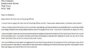 Cover Letter for Housing Officer Housing Officer Cover Letter Example Icover org Uk