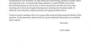 Cover Letter for Inside Sales Position Best Inside Sales Cover Letter Examples Livecareer