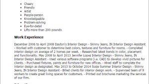Cover Letter for Interior Design assistant 1 Interior Design assistant Resume Templates Try them