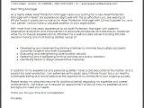 Cover Letter for Investment Management asset Protection Manager Cover Letter Sample Cover