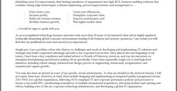 Cover Letter for It Company Cover Letter for A Company