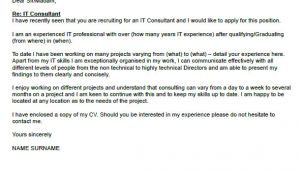Cover Letter for It Consultant Write A Well organized Essay Instructables Writing
