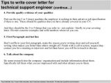 Cover Letter for It Technical Support Technical Support Engineer Cover Letter