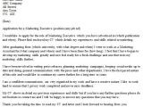 Cover Letter for Job Application Sales and Marketing Marketing Executive Cover Letter Example Icover org Uk