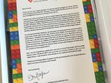 Cover Letter for Lego touch Community Services 25th Anniversary Limited Edition