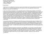 Cover Letter for Mobile Phone Sales Seth Mcvea toyota Motor Sales Cover Letter