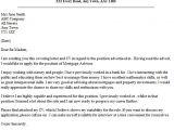 Cover Letter for Mortgage Advisor Mortgage Advisor Cover Letter Example Lettercv Com