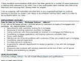Cover Letter for Mortgage Advisor Mortgage Advisor Cv Example Icover org Uk