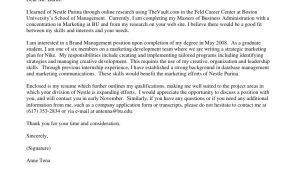 Cover Letter for Nike Prospecting Cover Letter