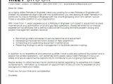 Cover Letter for Oil Company Petroleum Engineer Cover Letter Sample Cover Letter