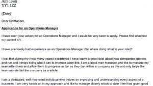Cover Letter for Operations Coordinator Operations Manager Cover Letter Example Icover org Uk