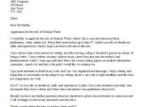 Cover Letter for Pa Role Medical Writer Cover Letter Example Icover org Uk