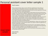 Cover Letter for Pa Role Personal assistant Cover Letter