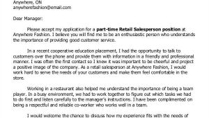 Cover Letter for Part Time Job No Experience 11 Part Time Job Cover Letter Templates Free Sample