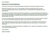 Cover Letter for Payroll Administrator Payroll Administrator Cover Letter Example Icover org Uk