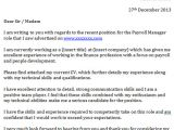 Cover Letter for Payroll Administrator Payroll Manager Cover Letter Example Icover org Uk