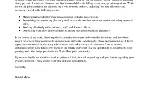 Cover Letter for Pharmacist Position Best Pharmacist Cover Letter Examples Livecareer