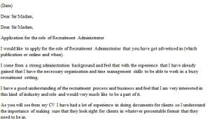 Cover Letter for Placement Agency Recruitment Administrator Cover Letter Example Icover org Uk